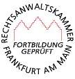 Fortbildungsbescheinigung Rechtsanwaltskammer Frankfurt am Main