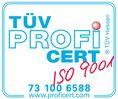 TÜV-Zertifikat nach ISO 9001